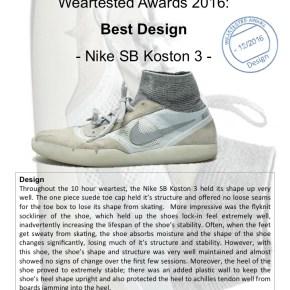 Weartested Awards 2016: Best Design