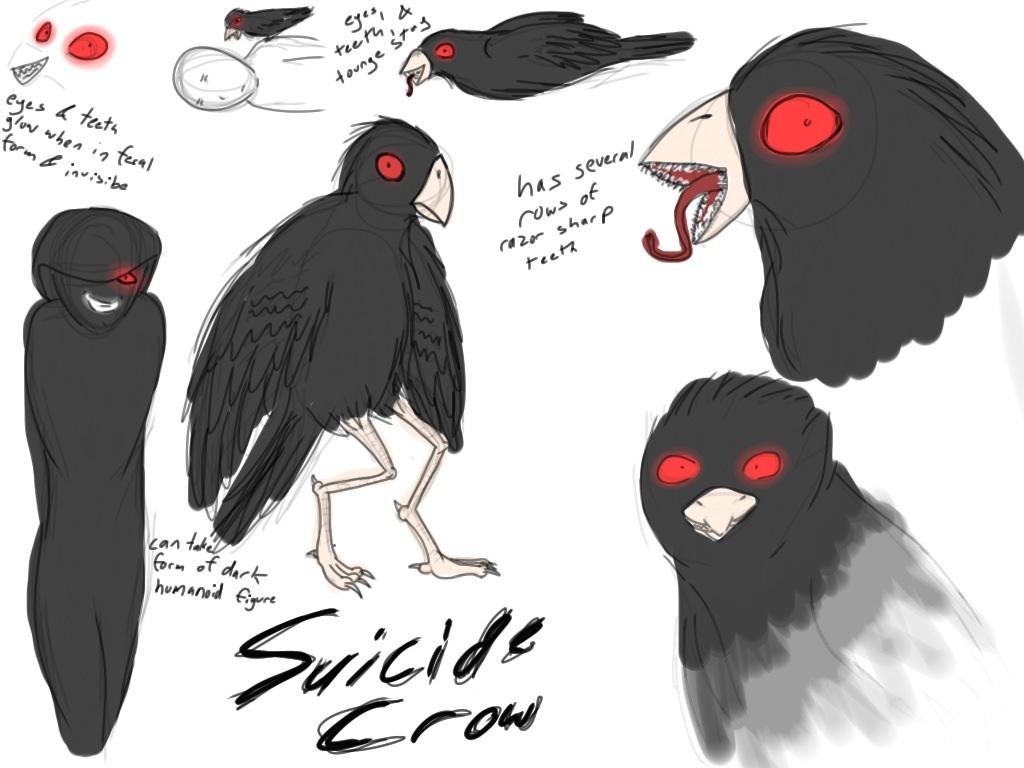 Anime Girl Wallpaper With Names Suicide Crow Creepypasta Oc Weasyl