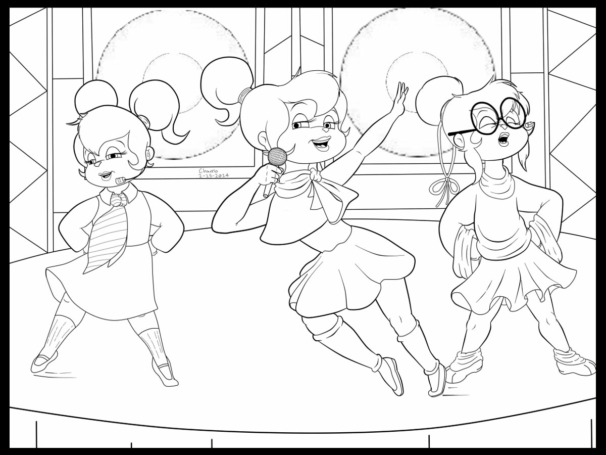 The Chipettes Coloring Pages - Eskayalitim