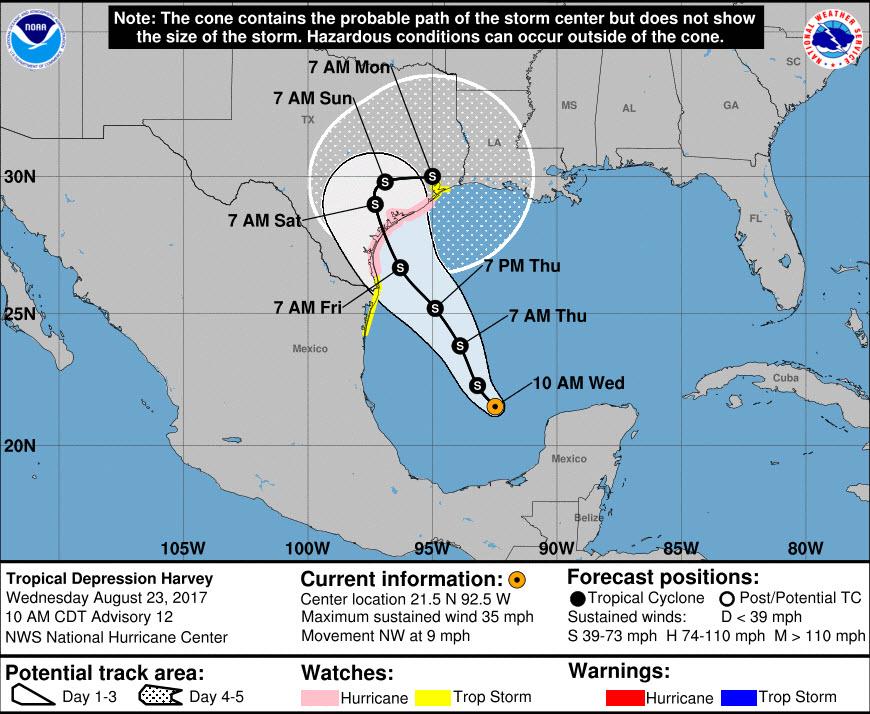 Major Hurricane Harvey - August 25-29, 2017