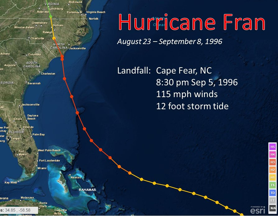 Hurricane Fran September 5, 1996