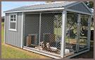Caged Dog House