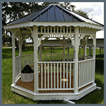 Weatherking Private StoragePainted Gazebo