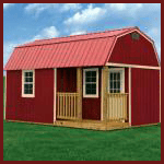 Weatherking Private Storage Lofted Barn Cabin