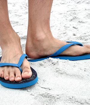 blue-flip-flops