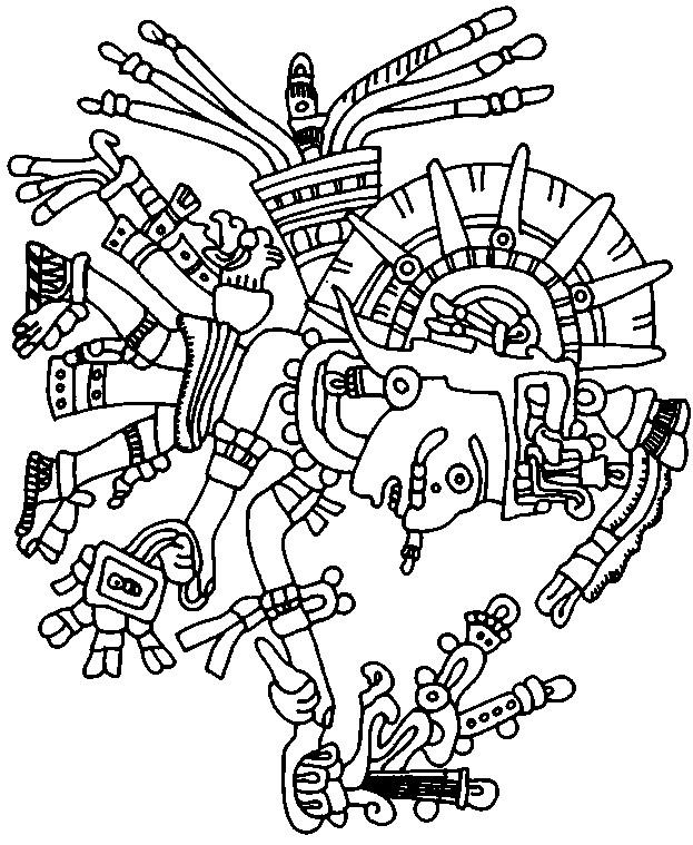 Aztec Designs Coloring Pages Aztec Art Coloring Pages