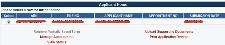 Applicant Home