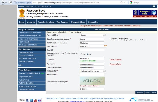 Passport registration 1024x662 How to Apply for Passport Online & Manage Passport Appointment?