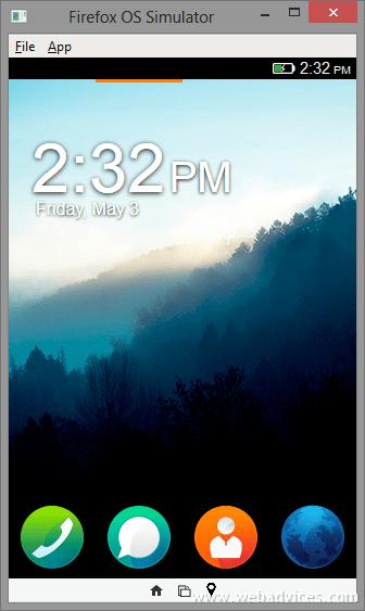 Firefox OS Homescreen