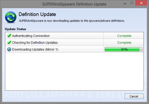 SUPERAntiSpyware update