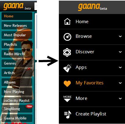 Gaana 3.0 UI Change
