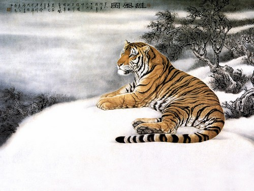 Chinese Girl Painting Wallpaper 17 Cool Chinese New Year 2010 Tiger Theme Wallpapers Web