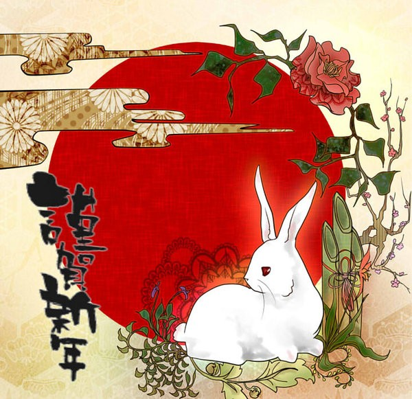 Wallpaper Design Black 15 Sets 2011 Chinese New Year Wallpapers And Rabbit