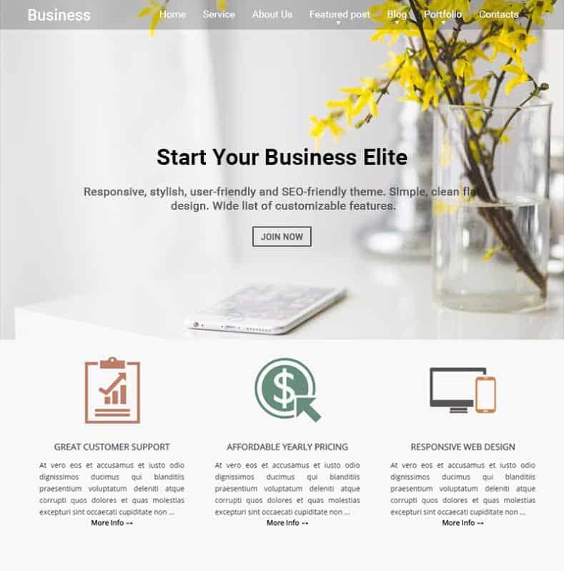 55 Best BUSINESS WordPress Themes of 2018 (UPDATED) - contact details template
