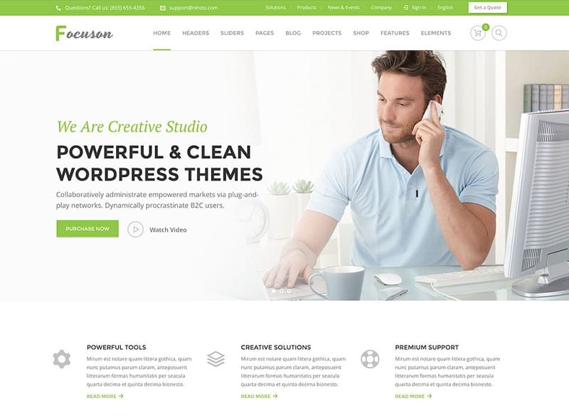 55 Best BUSINESS WordPress Themes of 2018 (UPDATED) - business profile samples