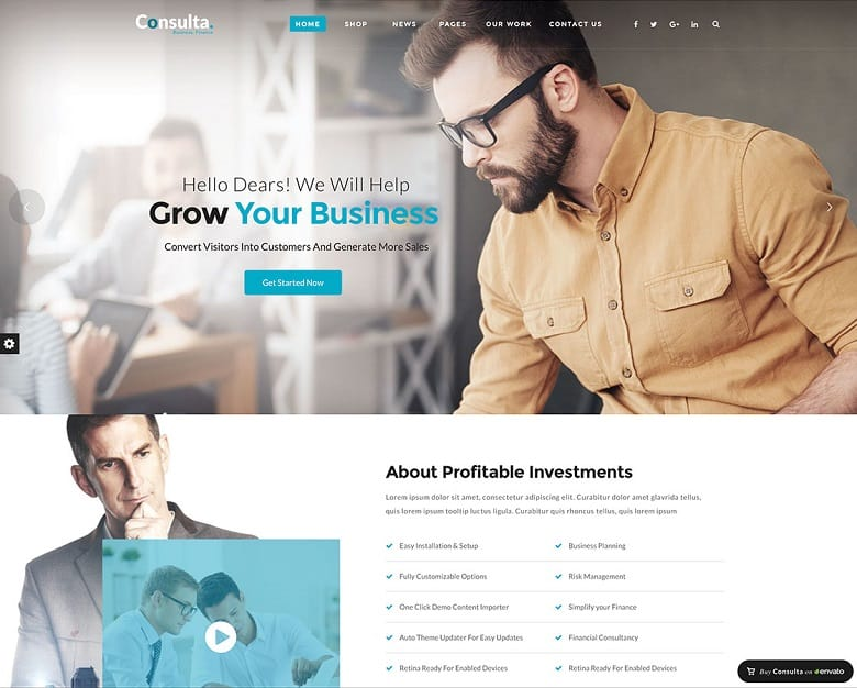 55 Best BUSINESS WordPress Themes Of 2018 (UPDATED)   Professional Business  Profile  Professional Business Profile