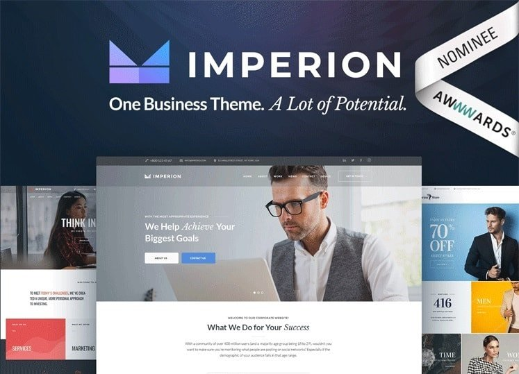 55 Best BUSINESS WordPress Themes of 2018 (UPDATED) - phone book example