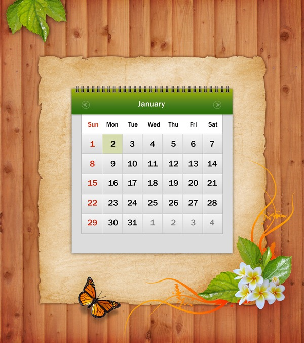 Tutorial - Design Awesome 2012 Calendar in Photoshop Drawing