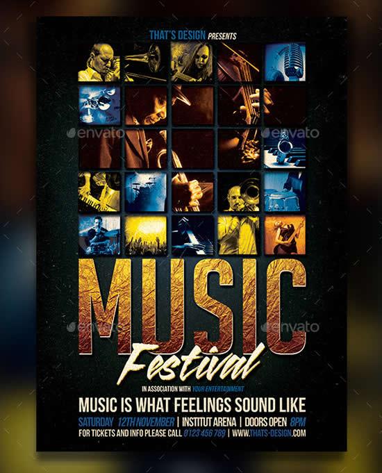 23 Best Party Poster Templates WebDesignBoom - music flyer template