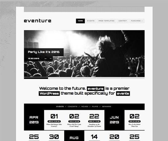 20 Beautiful Events Production Website Templates  WordPress Themes - event calendar templates