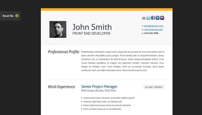 20 Creative Resume Website Templates to Improve Your Online Presence - resume template website