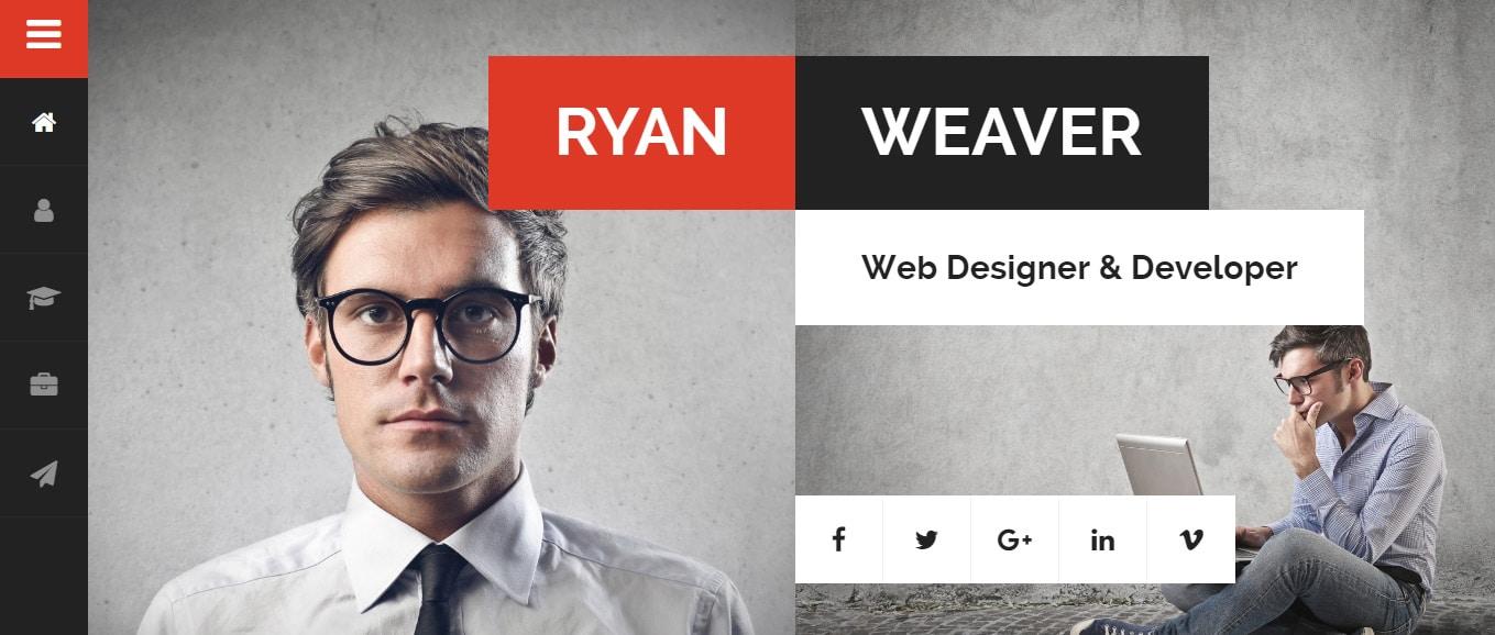 40 Best vCard WordPress Themes - free resume website template