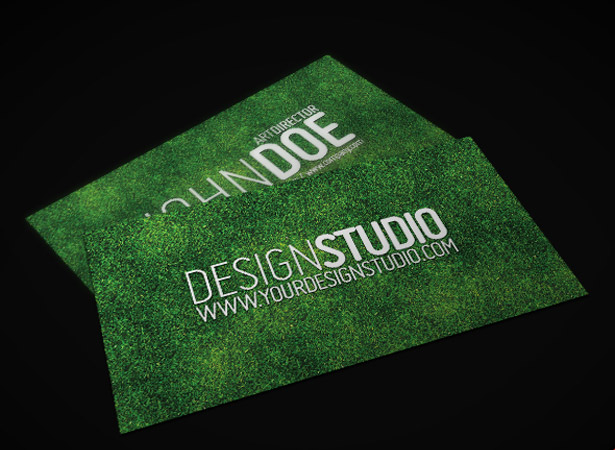 25+ free unique business card PSDs Webdesigner Depot - lawn care business cards