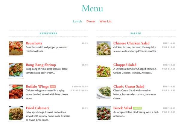 create a restaurant menu - Akbagreenw - restaurant menu project examples