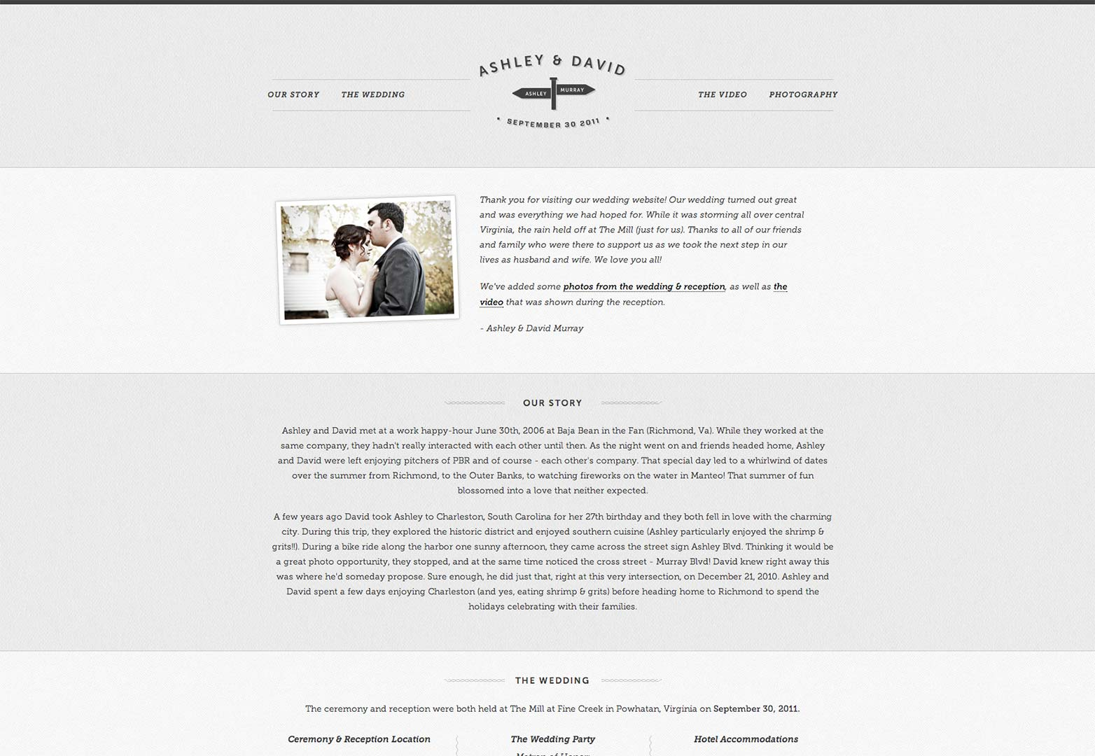 Fullsize Of Wedding Website Examples