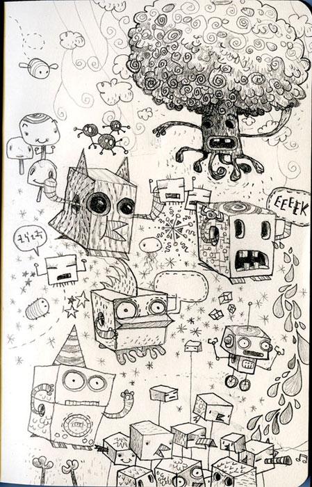 75 Exceptional Moleskine Notebook Artworks Webdesigner Depot - background sketches
