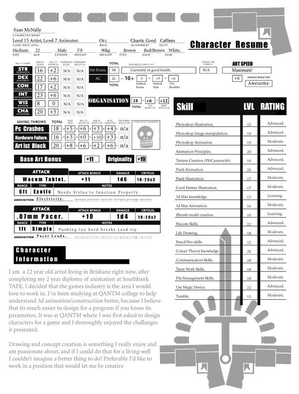 30 Artistic and Creative Résumés Webdesigner Depot - video game resume