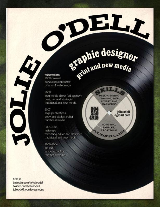 30 Artistic and Creative Résumés Webdesigner Depot