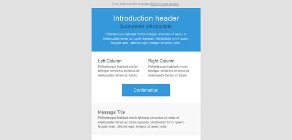 5 Top Responsive Free HTML Email Templates HTML/CSS Web Design - zurb email templates