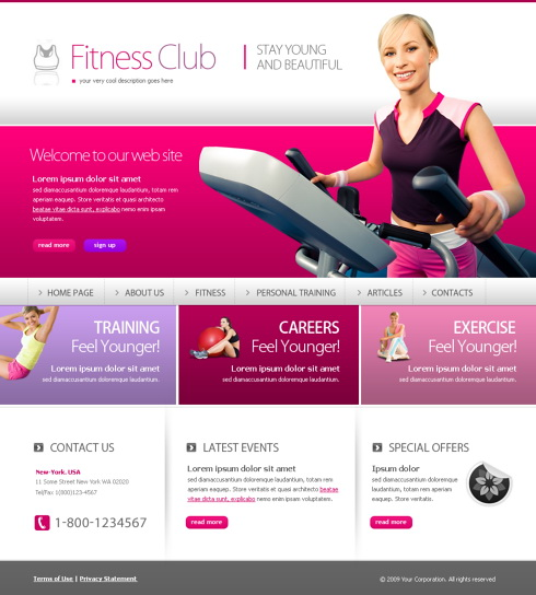 Free XHTML Website Template \u2013 Sports  Fitness Free Web Templates