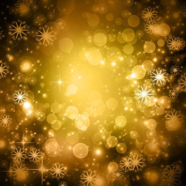 Yellow Glittery Snowflak Winter Background Preview. 4000 x 4000.Free Happy New Year Coloring Pages