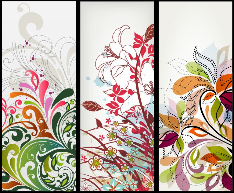 Vector Vertical Floral Banners Free Vector Graphics All Free Web - vertical designs