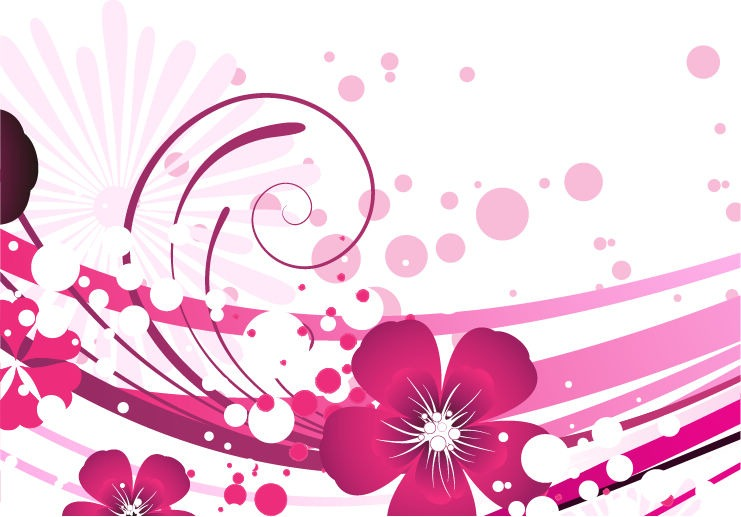 Pink Flower Vector Background Free Vector Graphics All Free Web