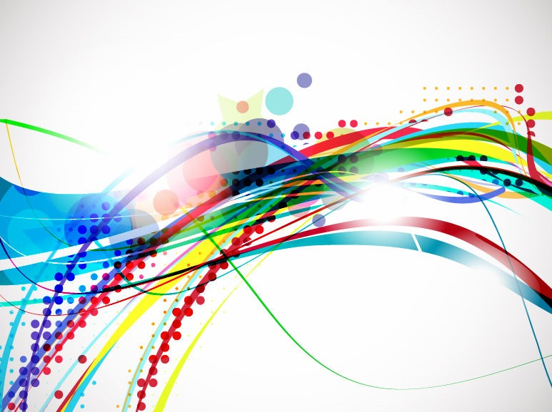 Vector Colorful Abstract Wave Design Background Free Vector