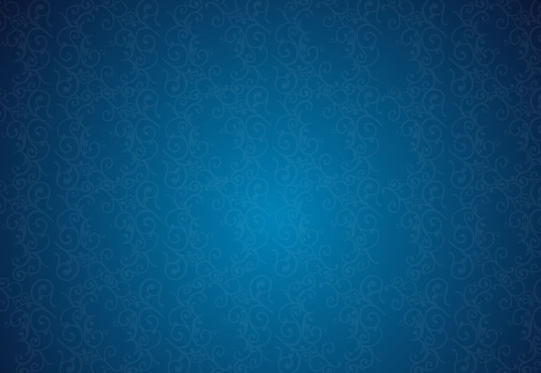 Retro Background Floral Blue Pattern Free Vector Graphics All
