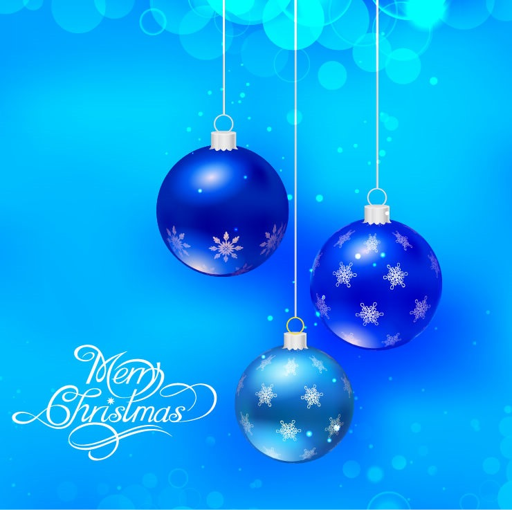 Vector Blue Christmas Holidays Background Free Vector Graphics