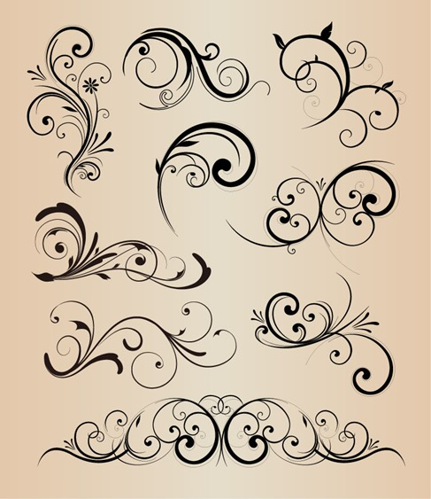Fancy Scroll Designs Fancy Scroll Ornament Royalty Free Cliparts - border templates word