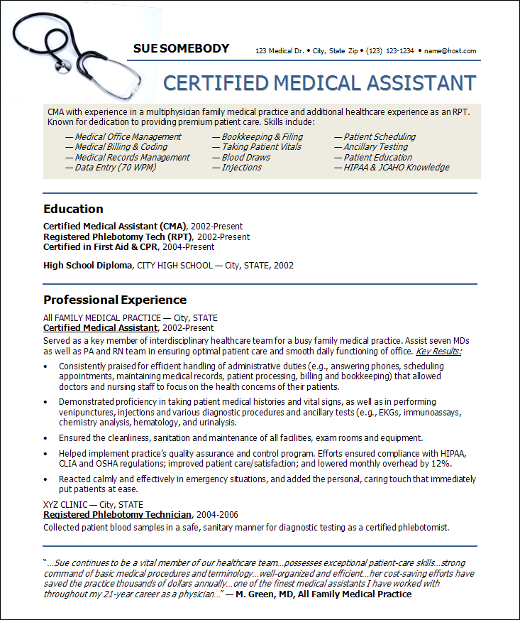 sample cna resumes home - Sample Certified Nursing Assistant Resume
