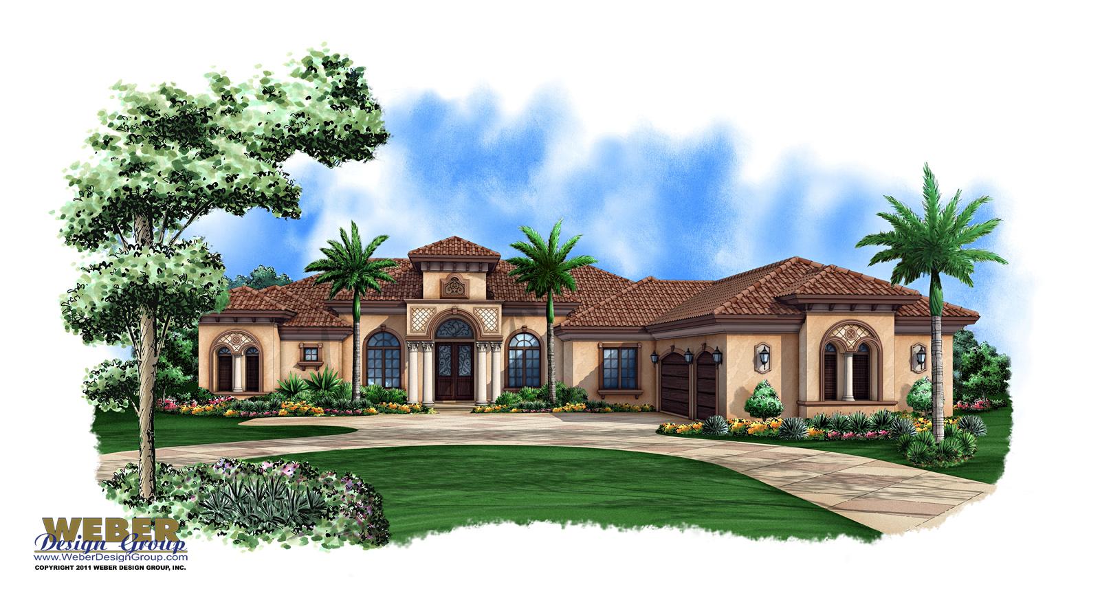 1 story mediterranean house plans