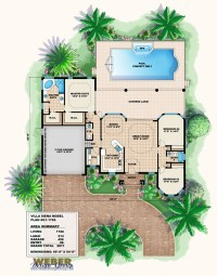 Mediterranean House Plan: Small Mediterranean Home Floor Plan