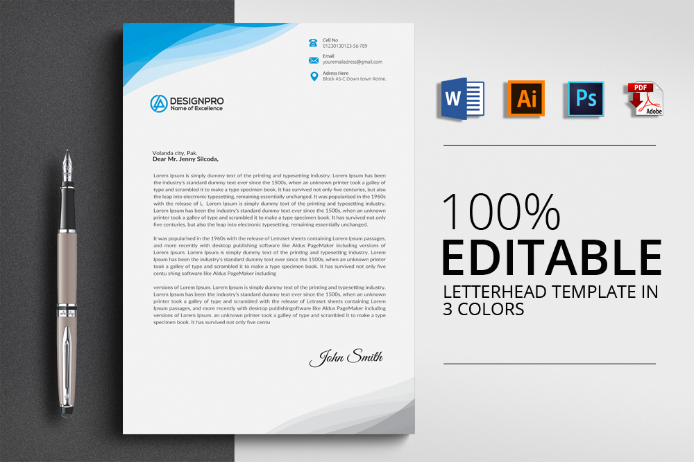 20+ Letterhead Templates in PSD MS Word - psd letterhead template