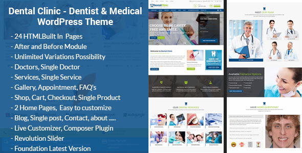 Dental Clinic - Medical  Dentist WordPress Theme Webful Creations