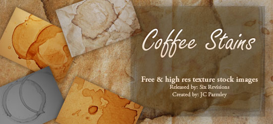 10 Free High Res Coffee Stains Textures