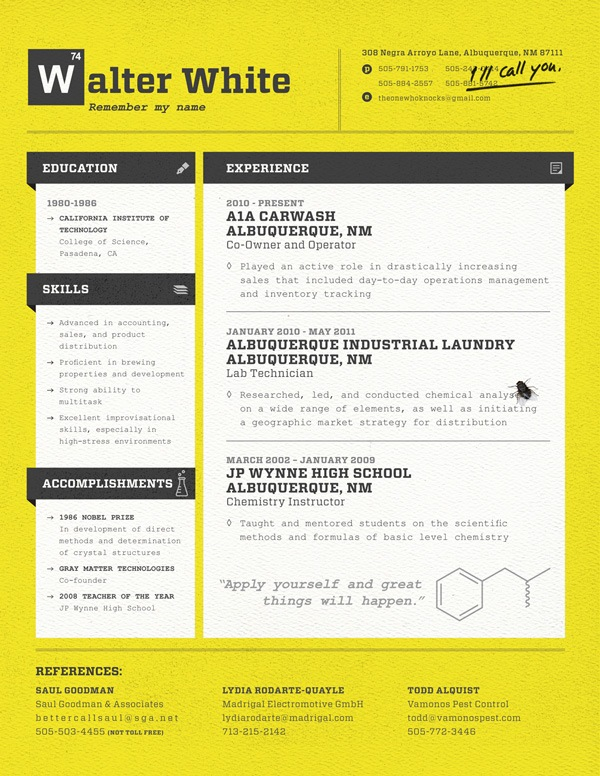 30 Creative Resume Designs for Inspiration - great resume designs