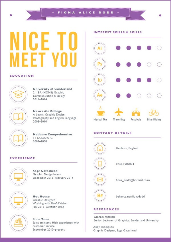 30 Creative Resume Designs for Inspiration - how to design a resume