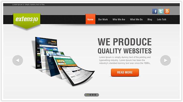 Web-Development PSD Template Free PSD Website Templates Download